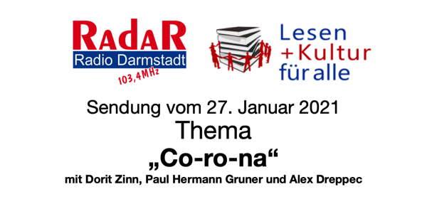 Hinweis auf den Podcast der Sendung Corona von Radio Darmstadt vom 27. Januar 2021